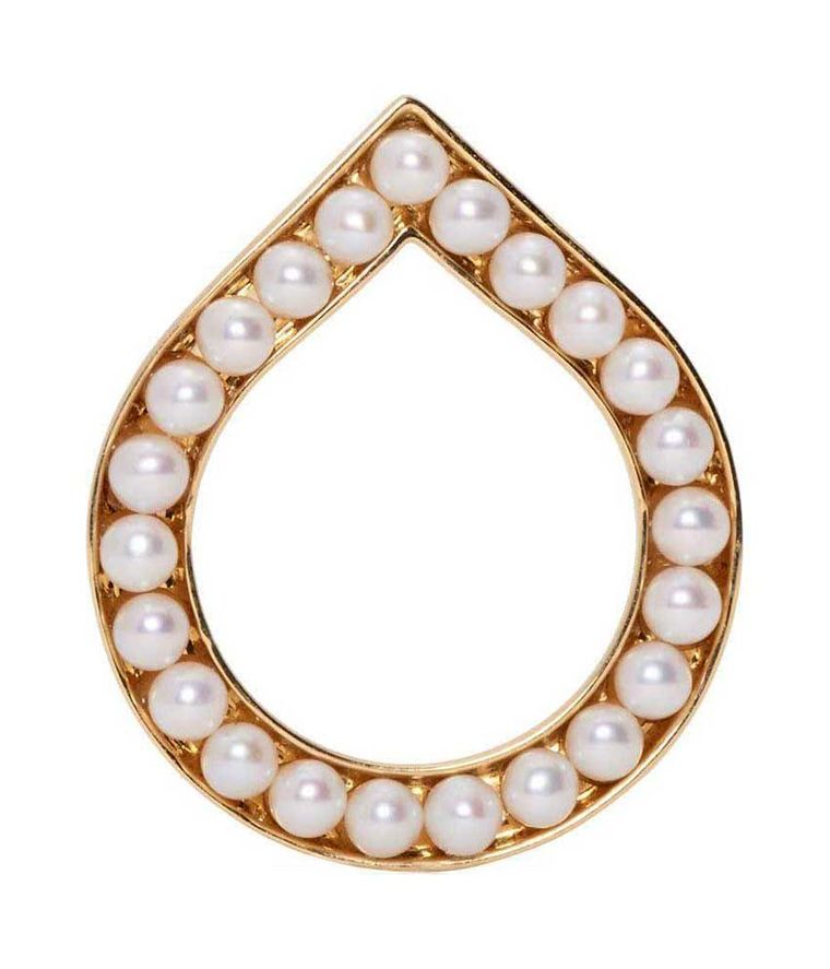 Melanie Georgacopoulos Drop ring featuring freshwater pearls set sideways into teardrop-shaped gold (£1,036).
