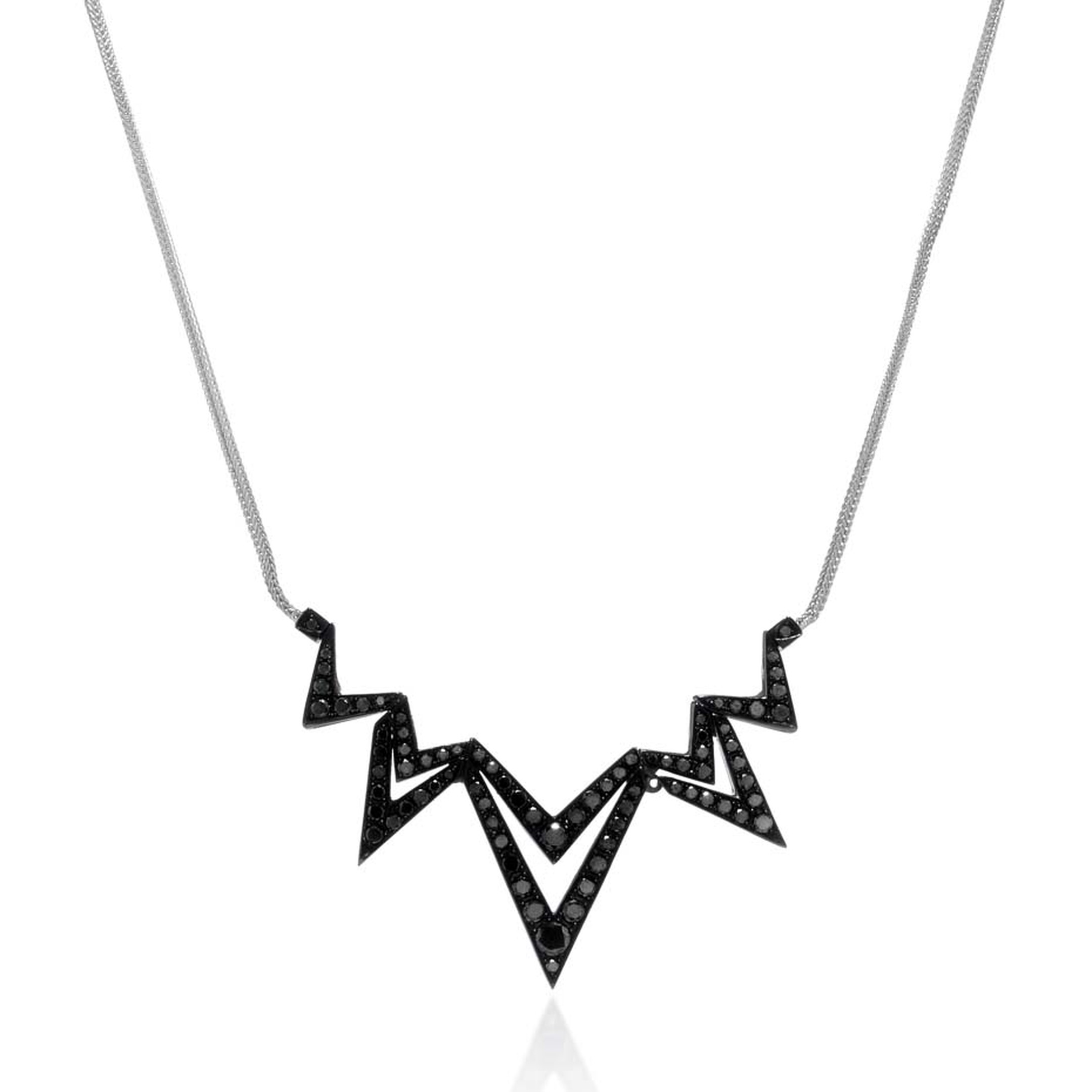Stephen Webster Lady Stardust necklace with black diamonds (£4,300).