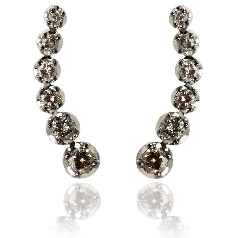 Annoushka Dusty Diamond ear pins in white gold (£1,990).