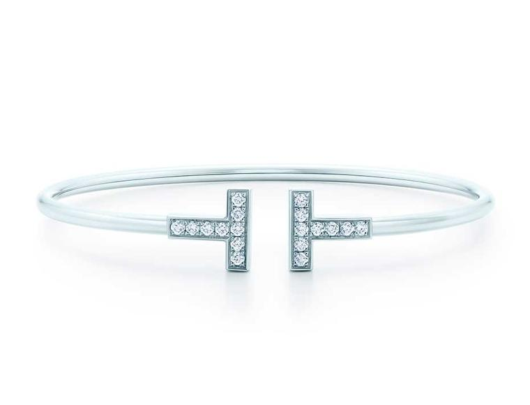 Tiffany T wire bracelet in white gold with diamonds (£2,450).