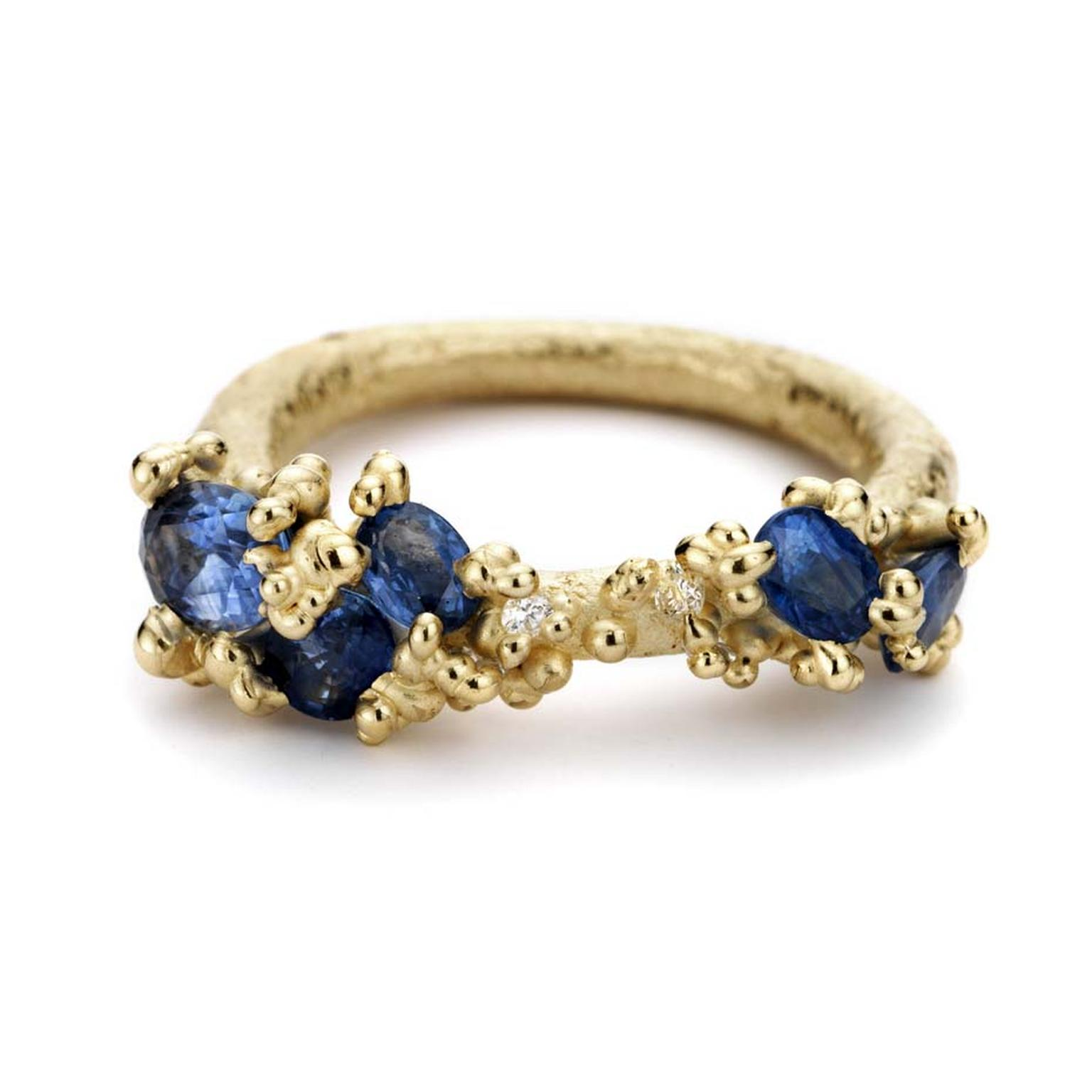 designyard blue sapphire ring gold gilmour beth products yellow