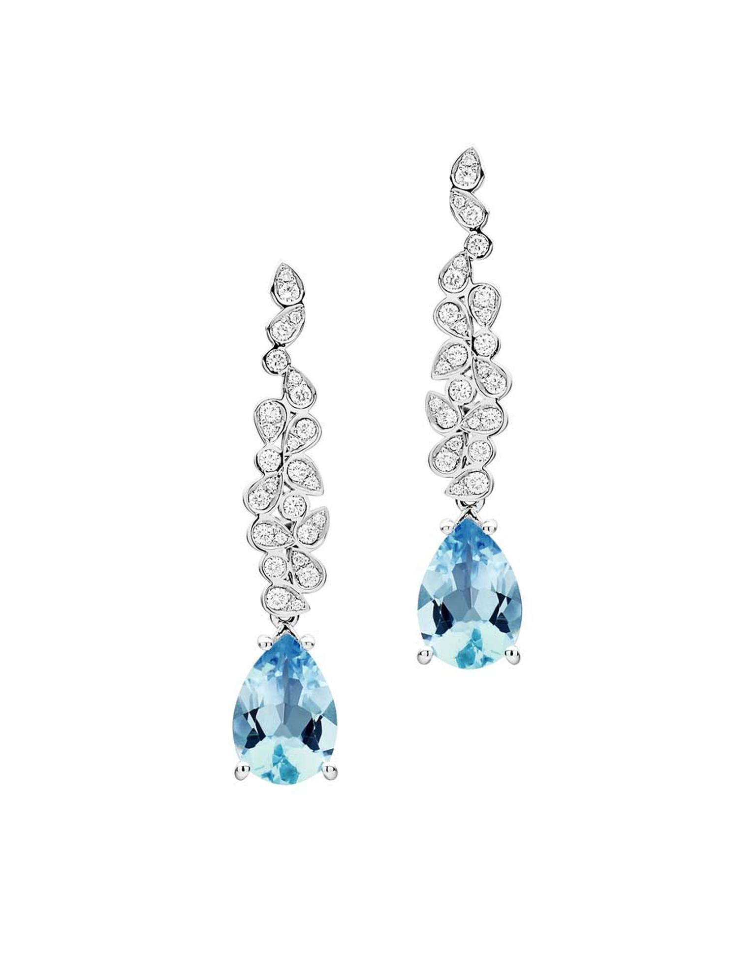 Jan Logan Barcelona detachable aquamarine and diamond earrings ($4,950 AUD).