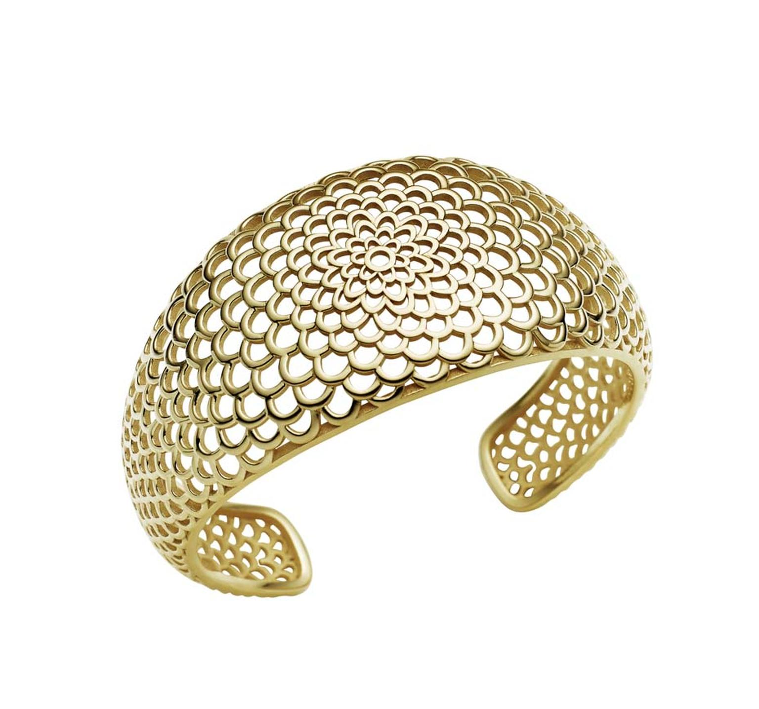 Jan Logan gold Gaudi cuff ($2,250 AUD).