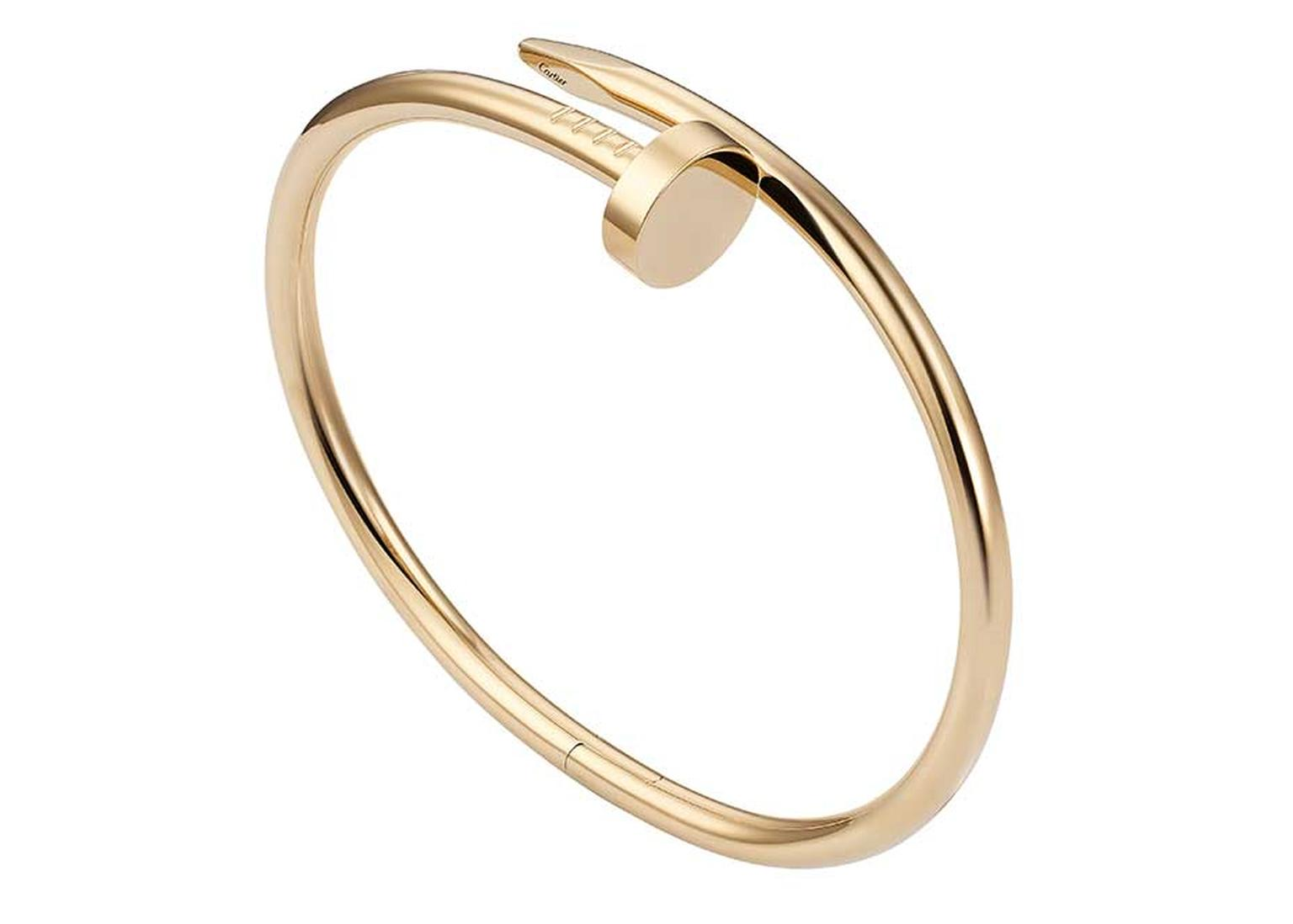 "With a name that means ""just a nail'"" in English, this gleaming gold Cartier Juste un Clou bracelet was originally designed in the 1970s and inspired by the legendary Studio 54 nightclub in New York (£4,850)."