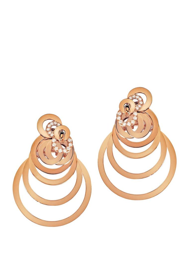 de GRISOGONO Gypsy hoop earrings in gold with diamonds (£9,700).