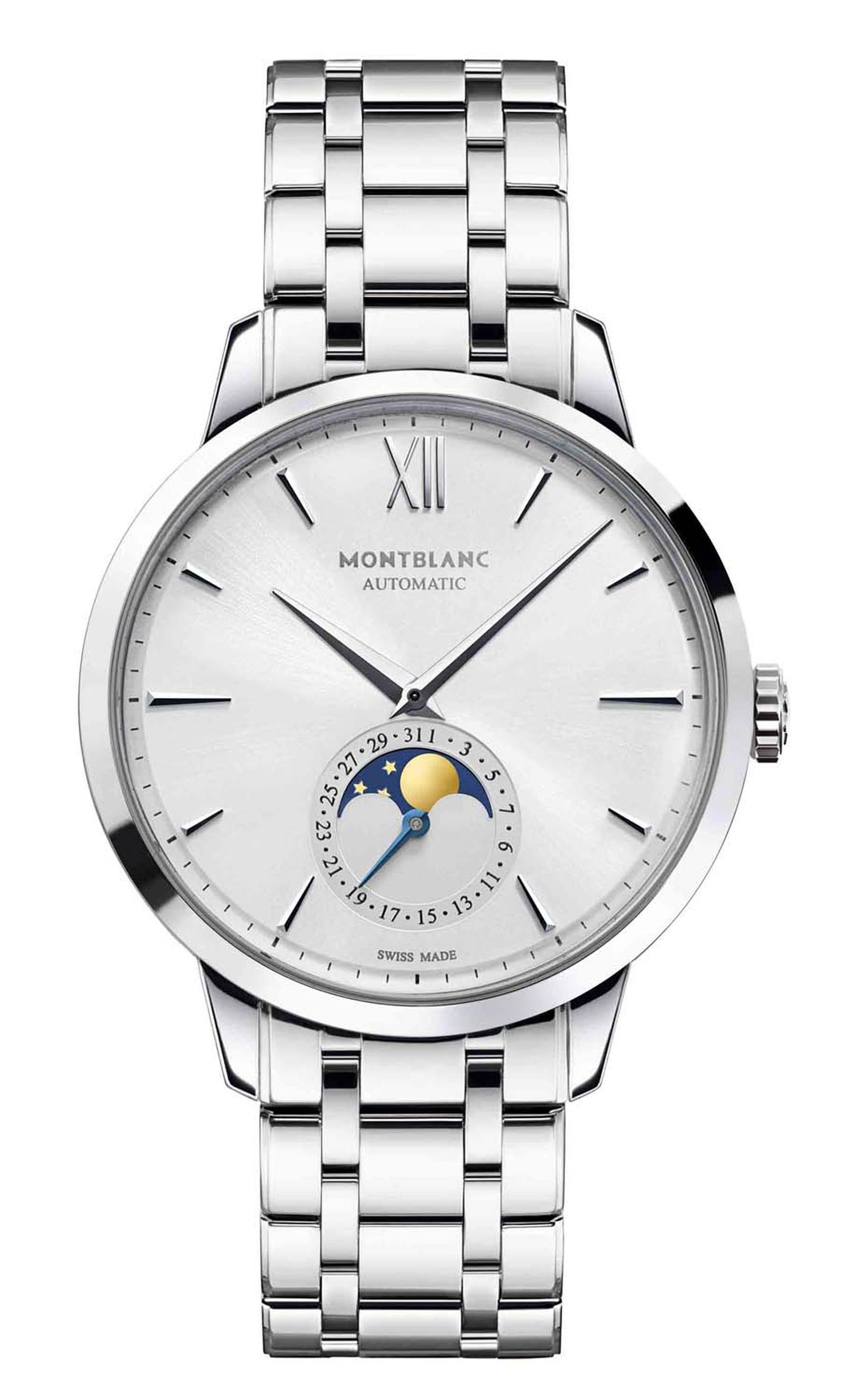 Montblanc released its Meisterstück Heritage Collection to rave reviews earlier this year, including the elegant Montblanc Heritage Moonphase watch in stainless steel (£2,695).