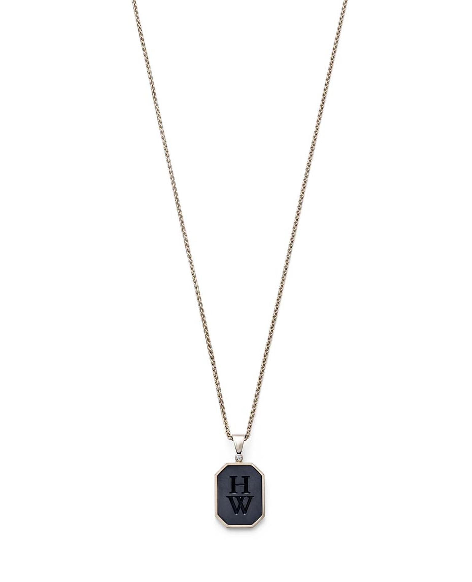Harry Winston Zalium Collection pendant featuring the high-tech zirconium-based alloy.