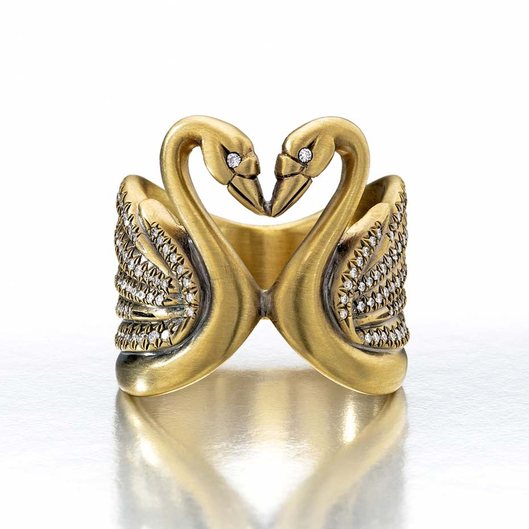 Wendy Brandes Cleves ring, inspired by Anne of Cleves, Henry VIII's fourth wife who was born in Schwanenburg, or Swan Castle ($9,000).