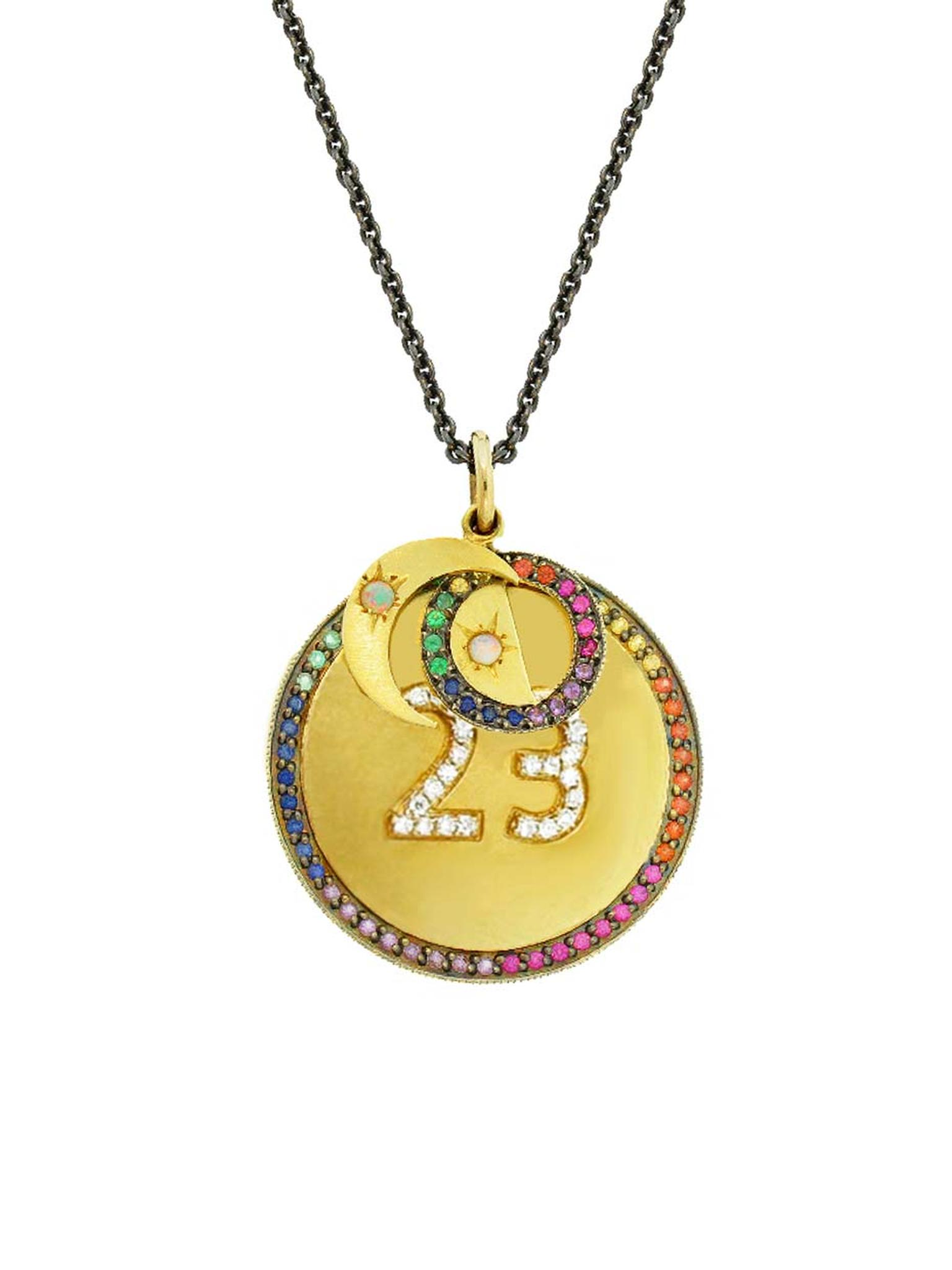 Andrea Fohrman Phases of the Moon necklace allows you to choose your own number, initials and the phase of the Moon under which you were born. Available from Ylang23.