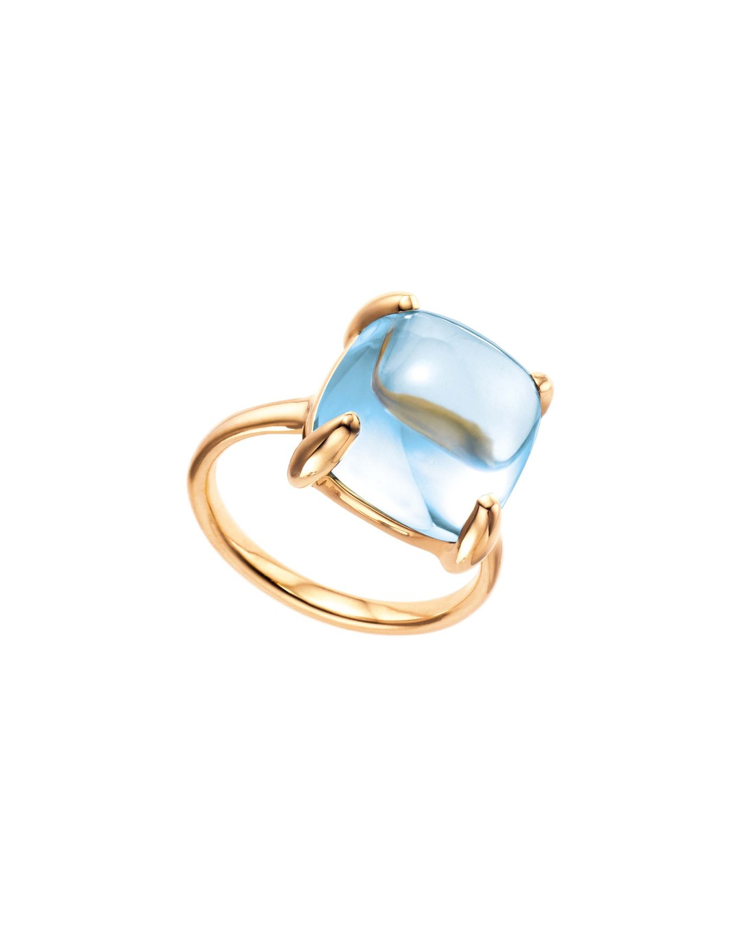 Paloma Picasso for Tiffany Sugar Stacks blue topaz ring in yellow gold from £1,100.