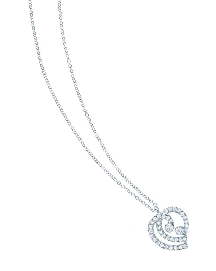 Tiffany Enchant heart pendant in platinum with diamonds from £2,025.