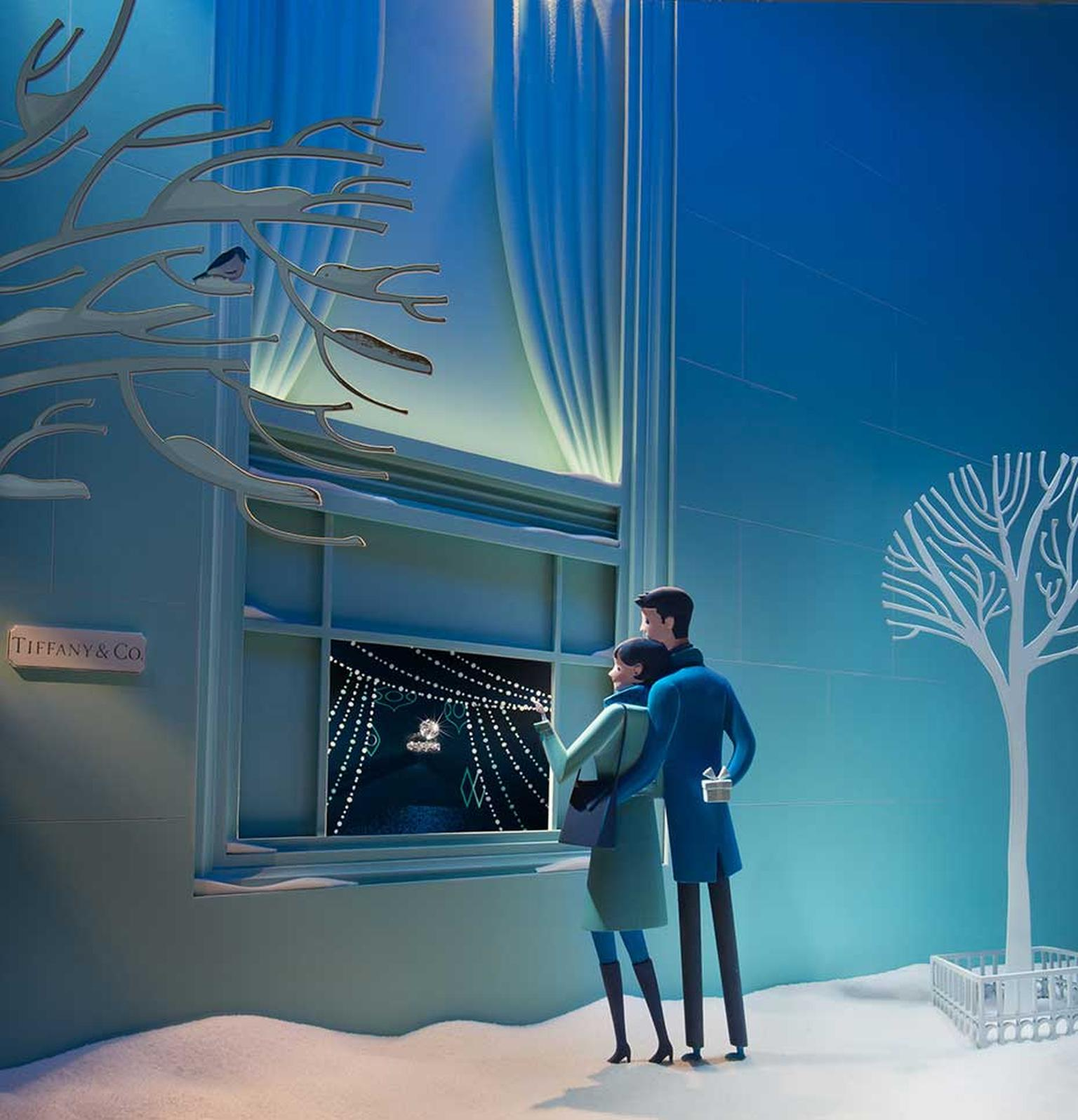 Tiffany is famous for its Christmas windows, and this year the Tiffany boutique on Bond Street has taken inspiration from New York with displays depicting stylishly festive scenes in the Big Apple, inspired by the glamour of the 1950s and 60s.