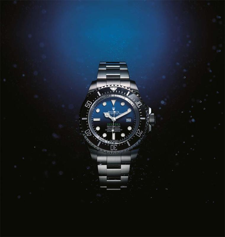 Equipped with an innovative Chromalight display that lights up the depths with a long-lasting blue glow, the Rolex 44mm Deepsea Sea-Dweller watch also features the hallmark Rolex safety valve, which acts as a miniature decompression chamber for the watch.