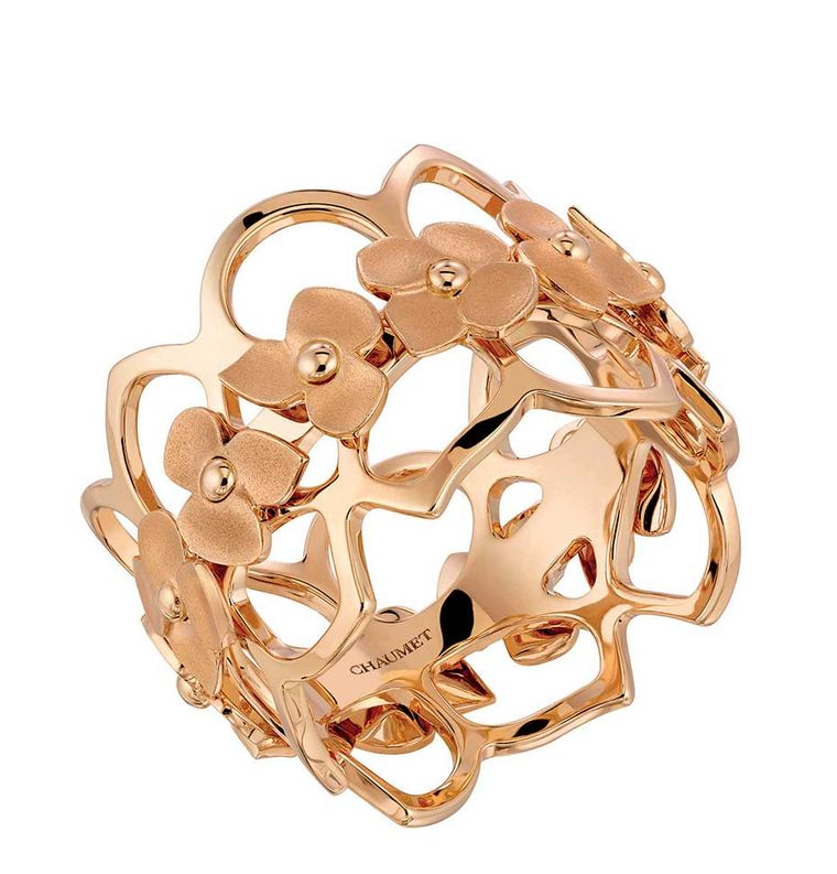 Chaumet Hortensia rose gold ring (£1,870).