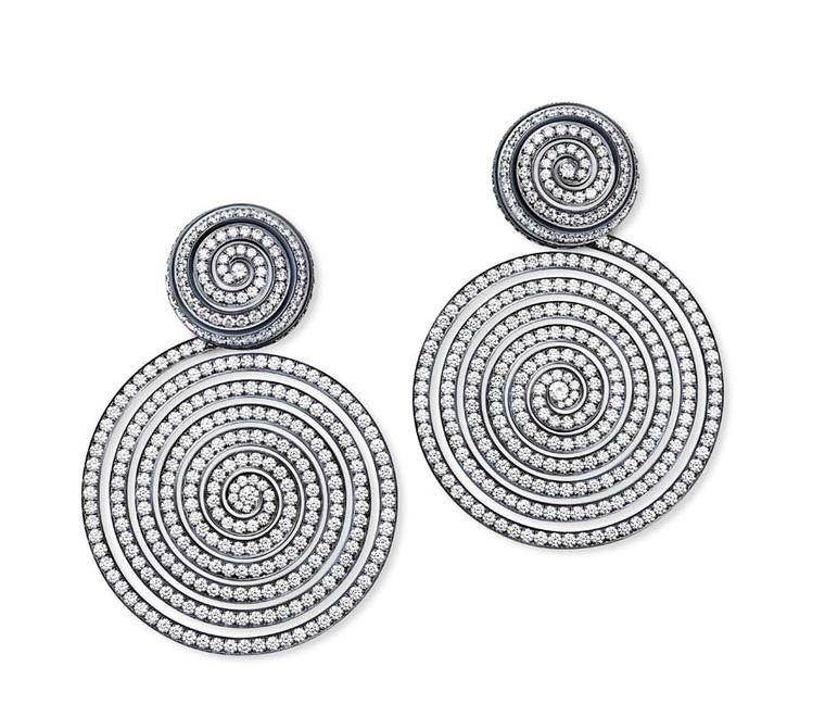 Hemmerle earrings in silver and gold with diamonds.