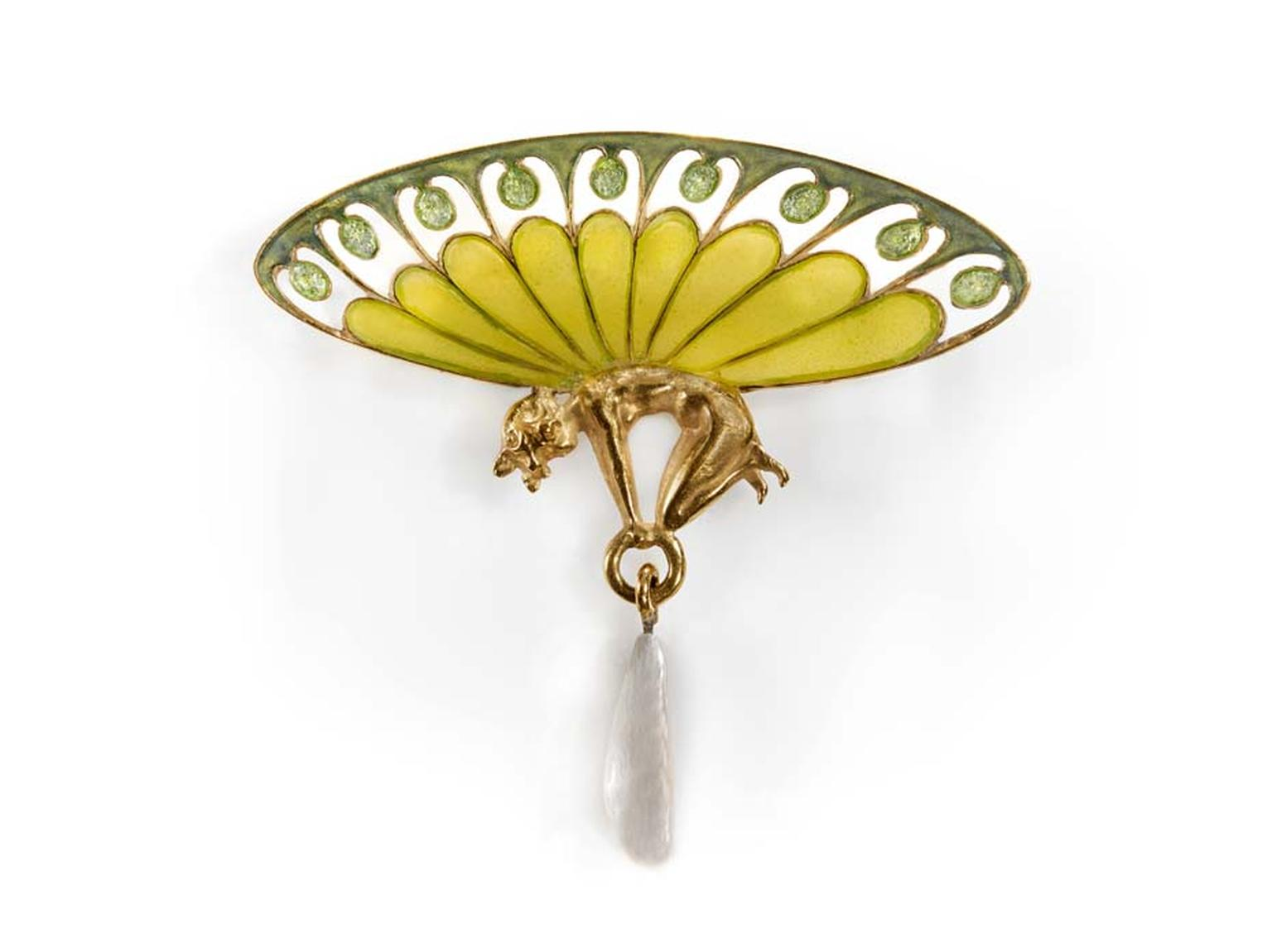 René Lalique Winged Sylph brooch. On display at the Driehaus Museum Maker & Muse exhibition.