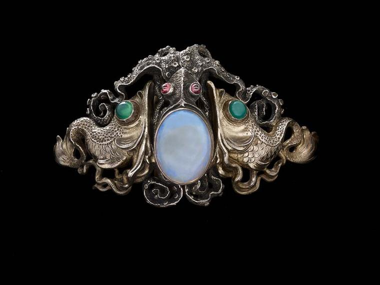 Wilhelm Lucas von Cranach Octopus Waist clasp. On display at the Driehaus Museum Maker & Muse exhibition.