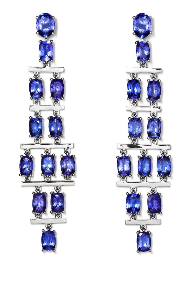 CADA Greta earrings featuring 24.86ct of tanzanite.
