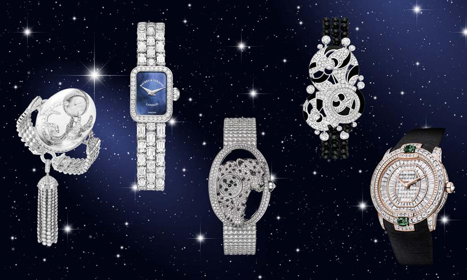 Light up the longest nights of the year with these dazzling diamond high jewellery watches from Boucheron, Backes & Strauss, Cartier, Chanel and Roger Dubuis.