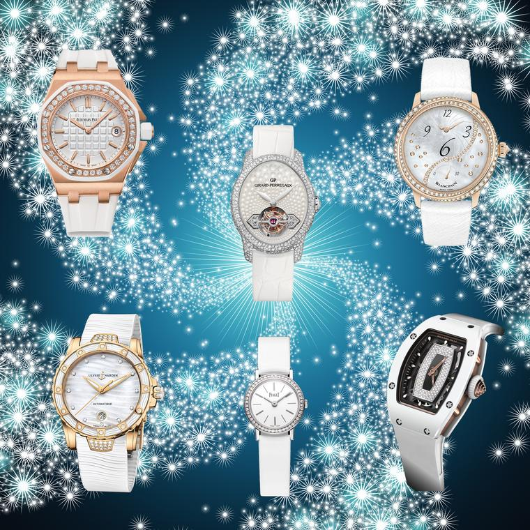 White on white watches for women for a cool Christmas