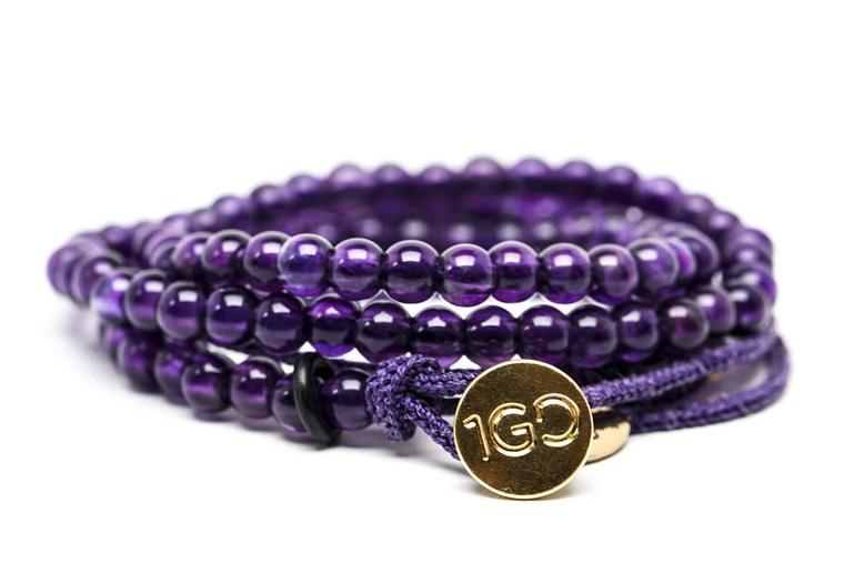 The Gemfields 100 Good Deeds amethyst bracelet is now available to buy at www.100gooddeeds.org/gemfields.