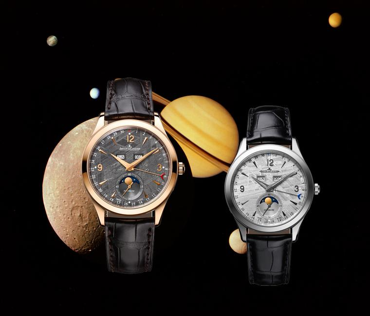 Jaeger-LeCoultre watches kicks off the watch season with a timepiece that is literally from outer space. Its classic Master Calendar watch sports a 100-million-year-old dial sliced from a single block of meteorite that was discovered in Sweden.
