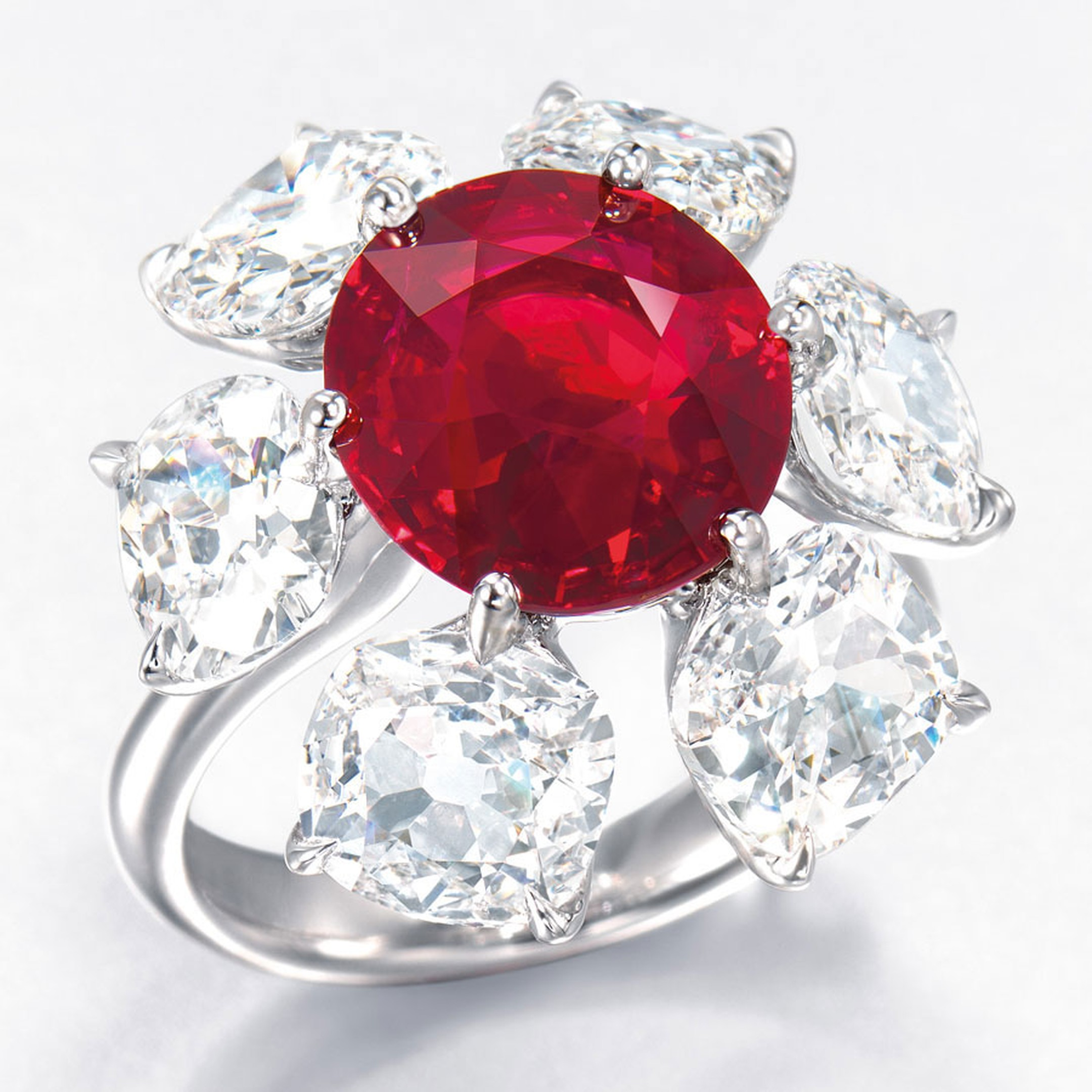 Christies, Ruby and diamond ring HP