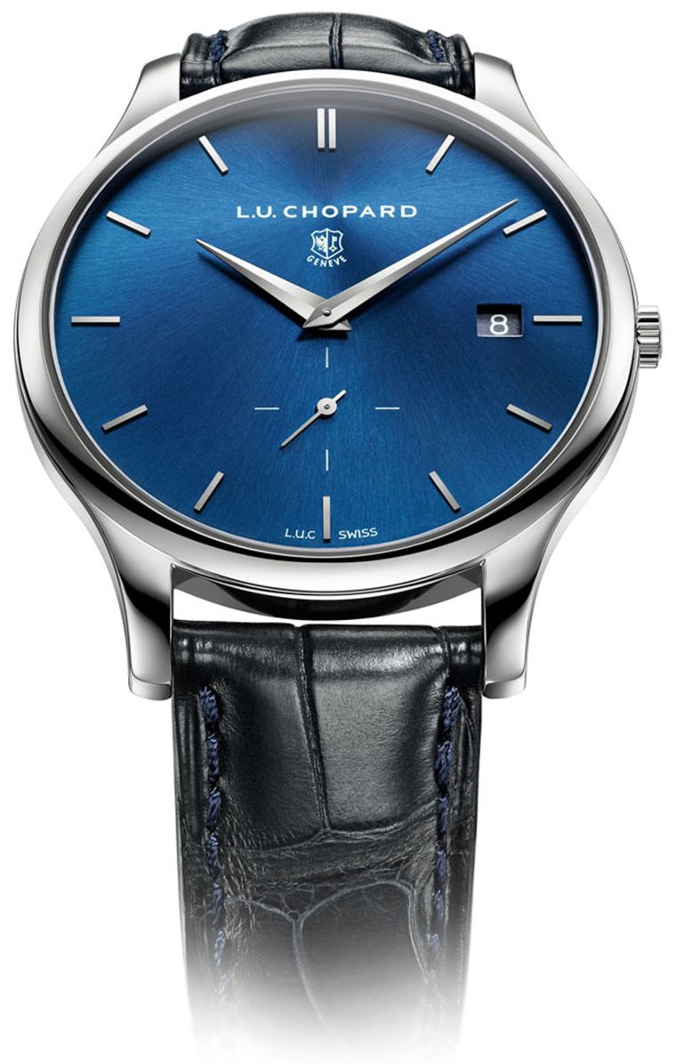 The Chopard L.U.C XPS watch is an elegant, ultra-thin model with a case thickness of just 7.13mm. The L.U.C XPS comes in a 39.50mm platinum case and captivates the eye with its refined blue sunburst dial.