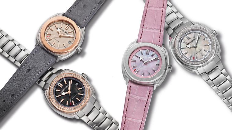 JeanRichard launches a new line of ladies' Terrascope watches. Faithful to the brand's iconic sports look, the case has been downsized from 44mm to 39mm and given some feminine flourishes.