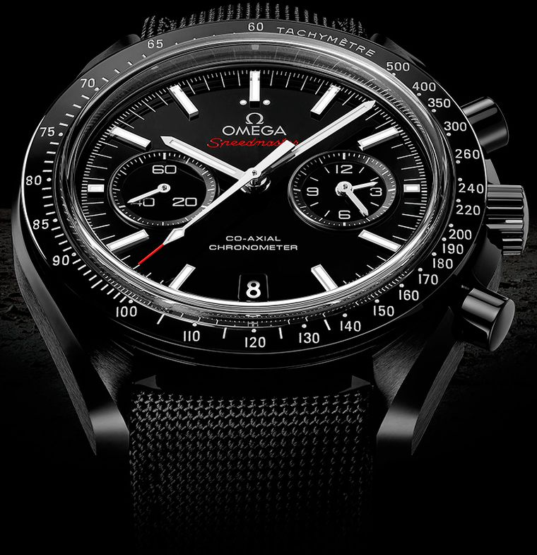 When Omega found out that a model from its Speedmaster family had made the epic Moon landing on Buzz Aldrin's wrist in 1969, the lucrative and well-earned legend of the Moonwatch was born. The Speedmaster Dark Side of the Moon watch continues the saga.