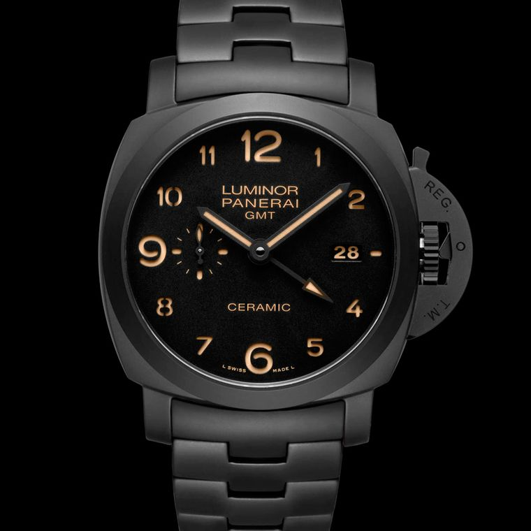 Panerai has forged a solid identity with its oversized watches inspired by the company's original mission of providing underwater timing devices with unparalleled luminescence for Italy's navy. This Panerai Tuttonero Luminor watch is water resistant to 10