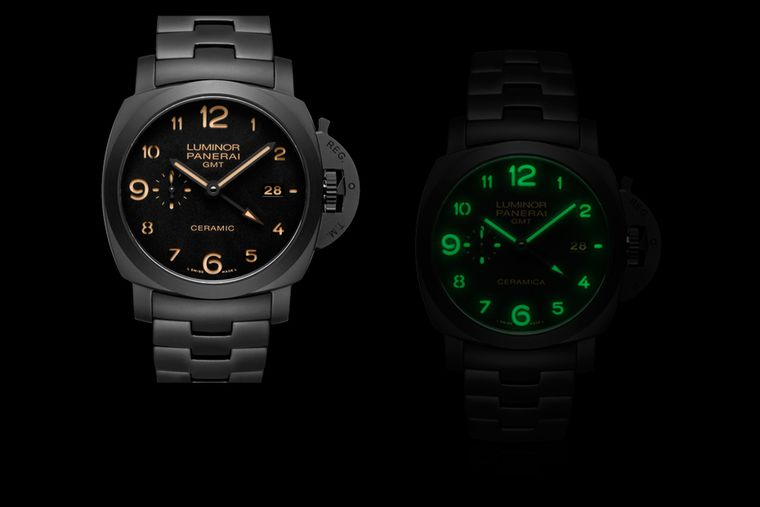 The Panerai Tuttonero Luminor watch pays tribute to a 1950 model and has been entirely forged in matte black ceramic for an impeccably sleek and silky look.