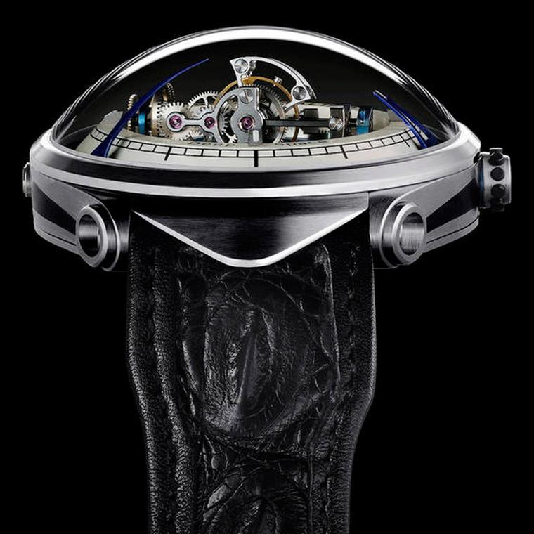 Vianney Halter is a serious watchmaker and an equally serious Trekkie. Designed to look like the Deep Space 9 space station from the Star Trek series, Halter's Deep Space Tourbillon is a large domed microcosm complete with a triple axis tourbillon.