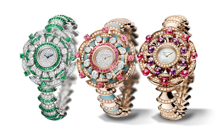 The Bulgari Diva high jewellery watch presented earlier this year captures the decadent glamour of Italy's Dolce Vita scene. The model in diamonds and emeralds won the coveted GPHG High Jewellery award this year.