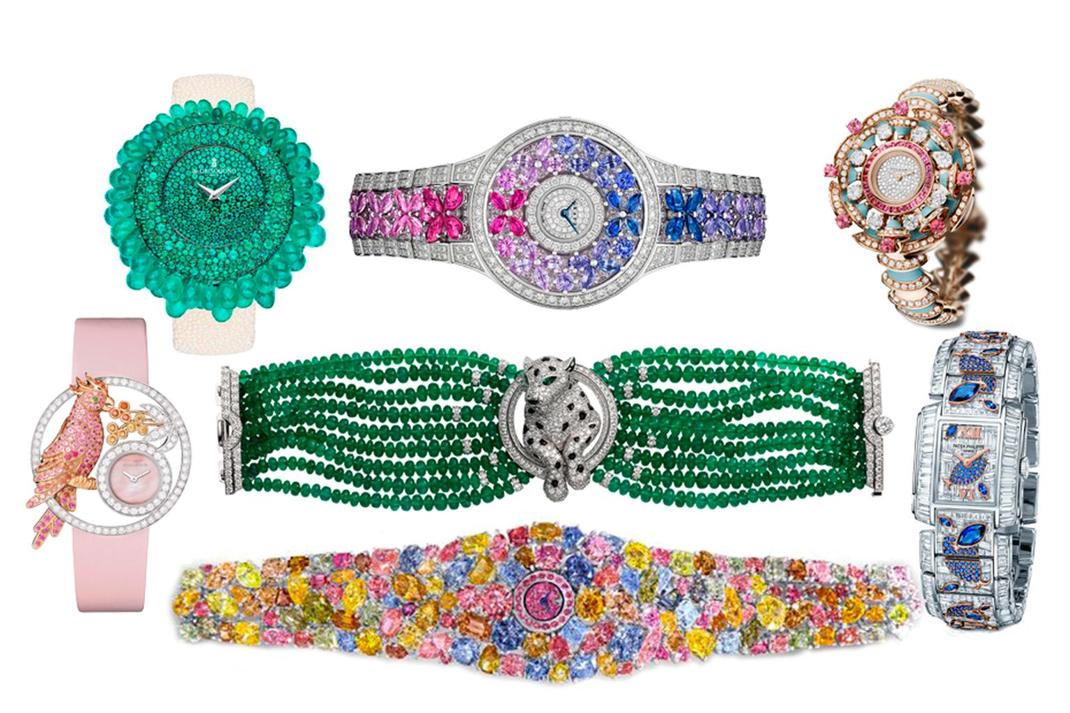 2014 was a very generous year for high jewellery watches with dazzling beauties popping up the SIHH, Baselworld and the Biennale des Antiquaires buoyed by an ever-growing appetite for coloured gemstones and diamonds. Viva 2014!