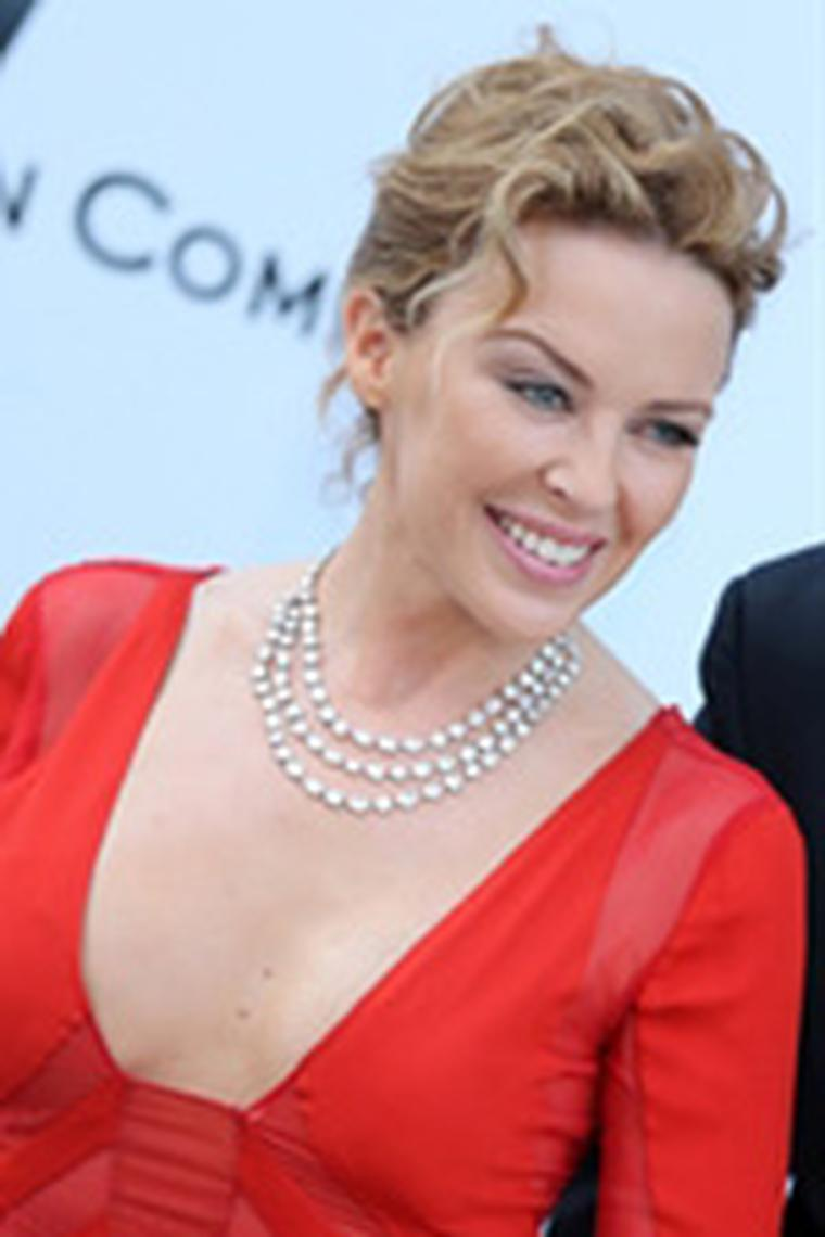 Kylie Minogue in Chopard diamonds at amfAR