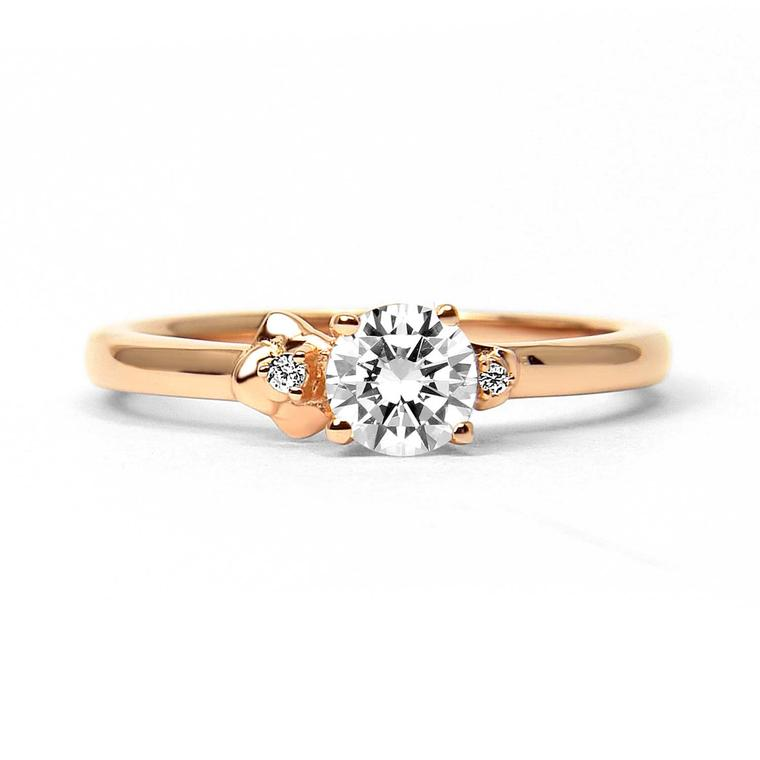 Cherry Blossom ethical diamond engagement ring