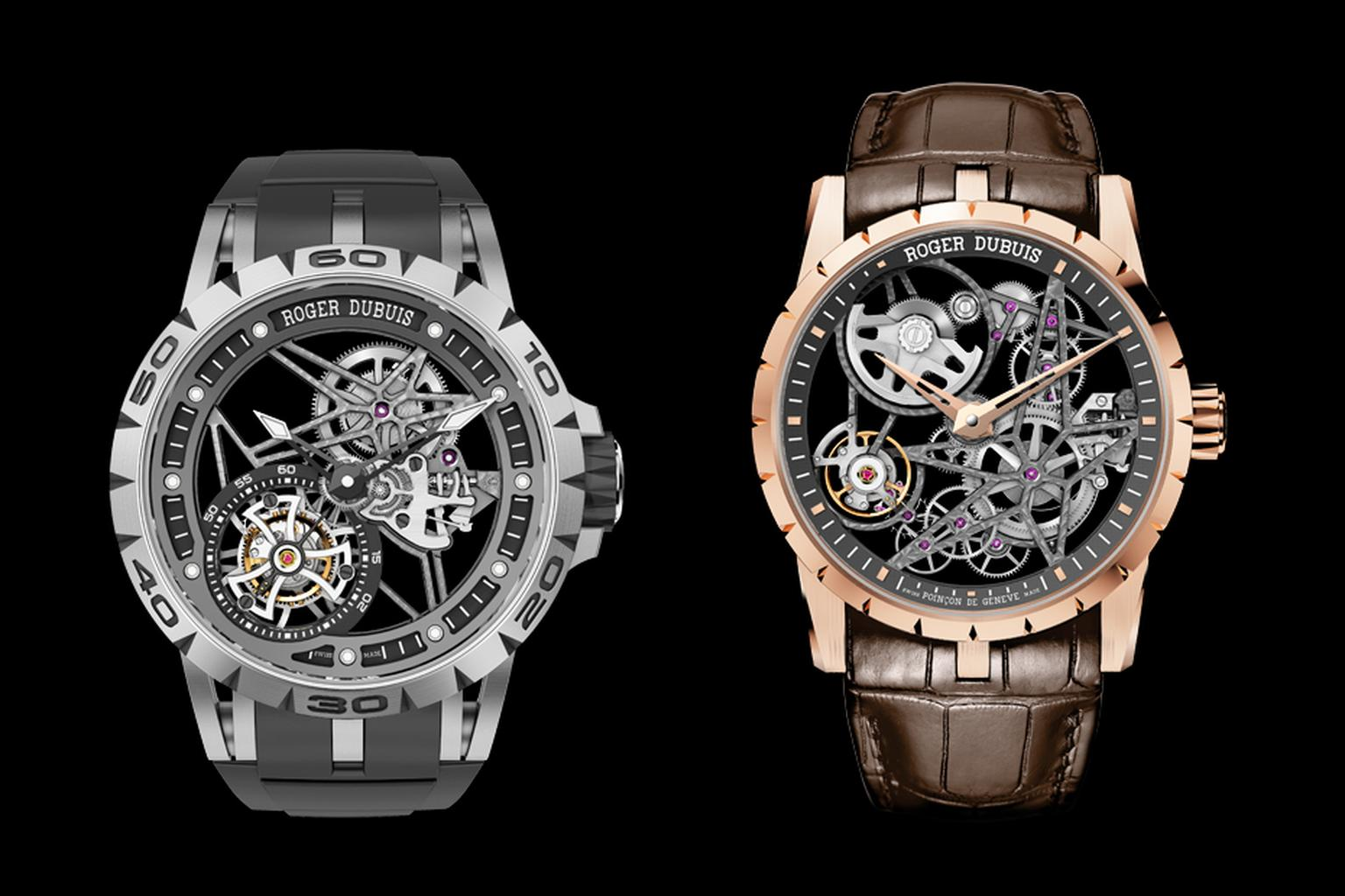 "Roger Dubuis watches has proclaimed 2015 as the ""Year of the Skeleton"" with the launch of the Excalibur Spider Skeleton Flying Tourbillon and the Excalibur Automatic Skeleton."