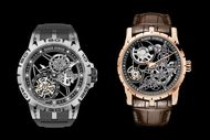 Roger Dubuis performs a striptease with two new Excalibur Skeleton watches