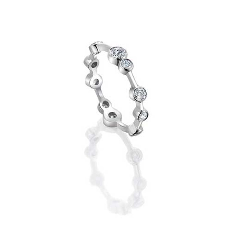Boodles Full-Hoop diamond eternity ring in platinum, from the Raindance collection.
