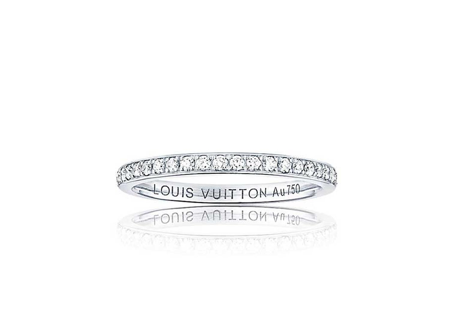 Louis Vuitton eternity ring in white gold, set with 44 brilliant-cut diamonds.