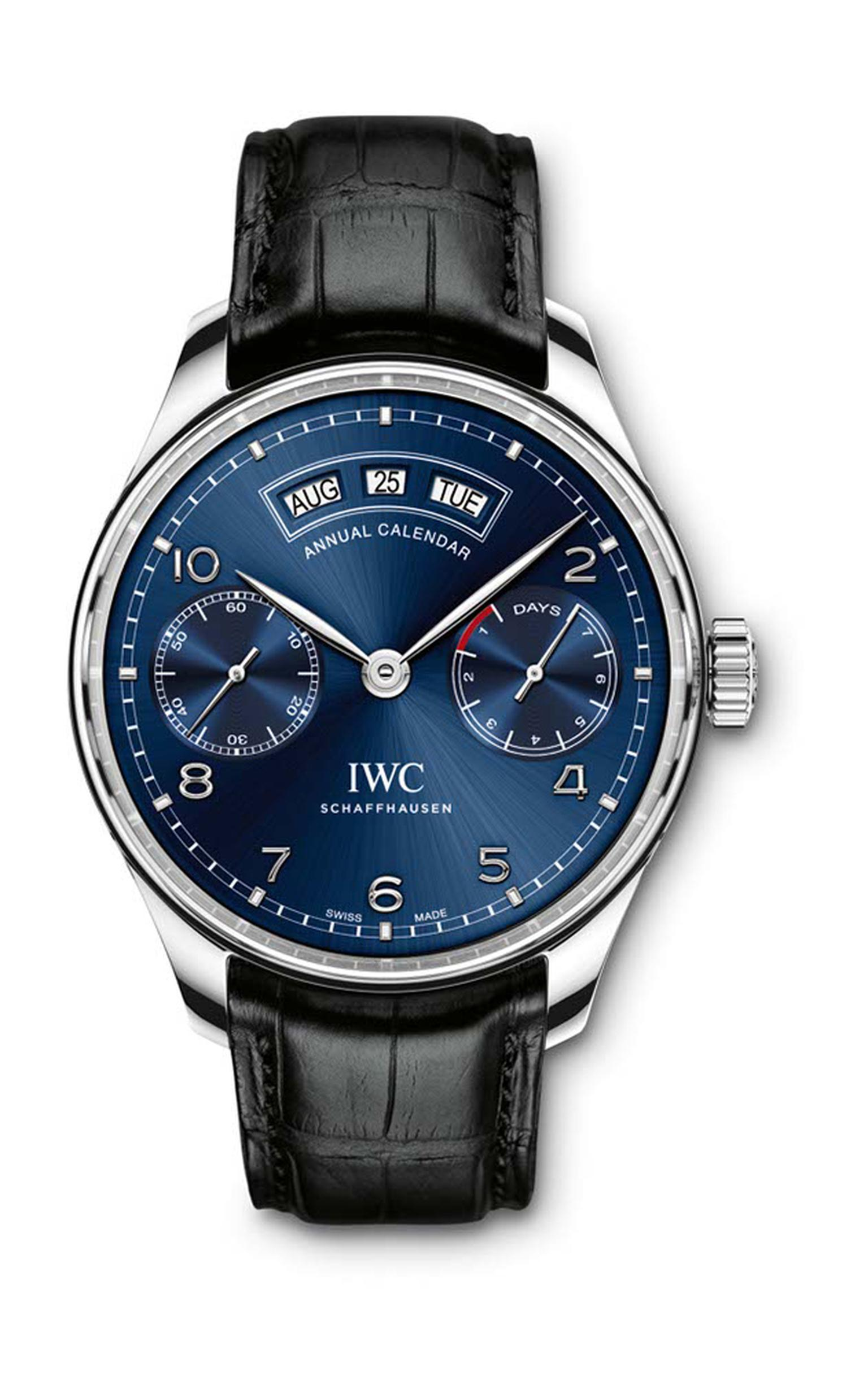 IWC watches is celebrating the Portugieser's 75th birthday with a new Annual Calendar watch powered by a brand new in-house calibre.