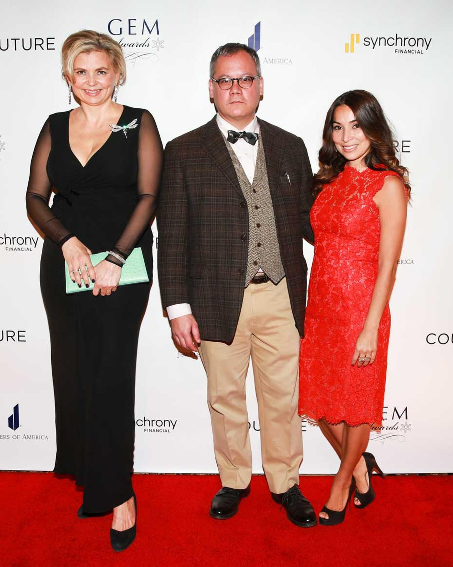 Our very own Maria Doulton, who was nominated for the Media Excellence award at the 2015 GEM Awards, alongside winner Claudia Mata and Jack Forster. Image: Ben Rosser/BFAnyc.com