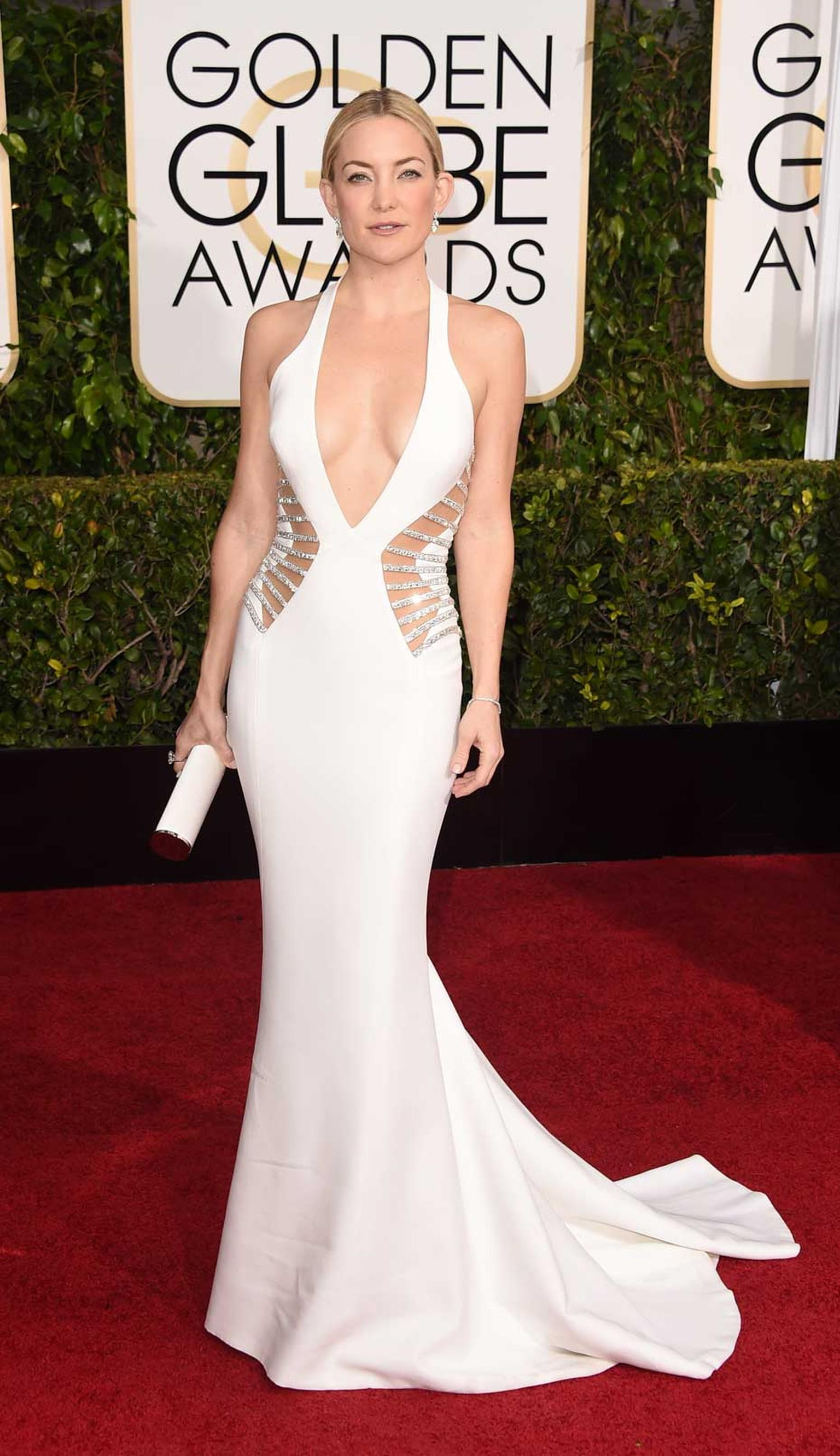 Kate Hudson wore a Forevermark diamond ring and bracelet to attend the 2015 Golden Globe Awards ceremony.
