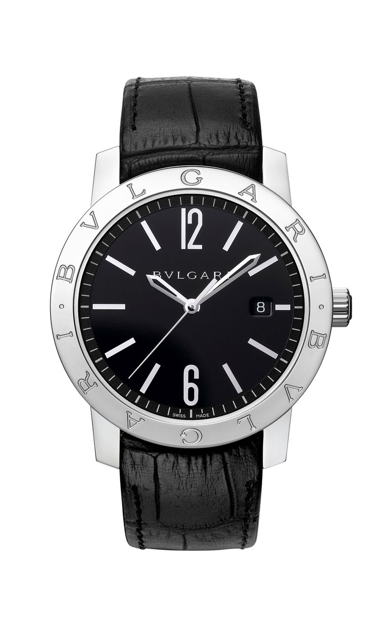 Matthew Matthew McConaughey's Bulgari Bulgari Solotempo watch in stainless steel was inspired by a Bulgari design of 1977 with the double logo on the bezel. Powering the hours, minutes, central seconds hand and date window is Bulgari self-winding caliber