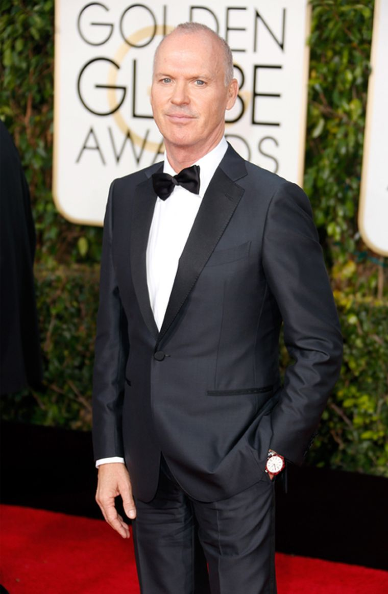 American actor Michael Keaton of Batman fame chose a  Bulgari Bulgari Solotempo watch  with the iconic double logo on the bezel. (Getty Images)