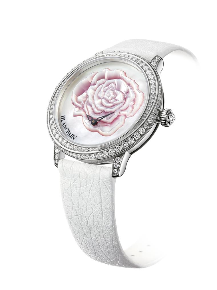 A pink rose from Blancpain watches for that special day