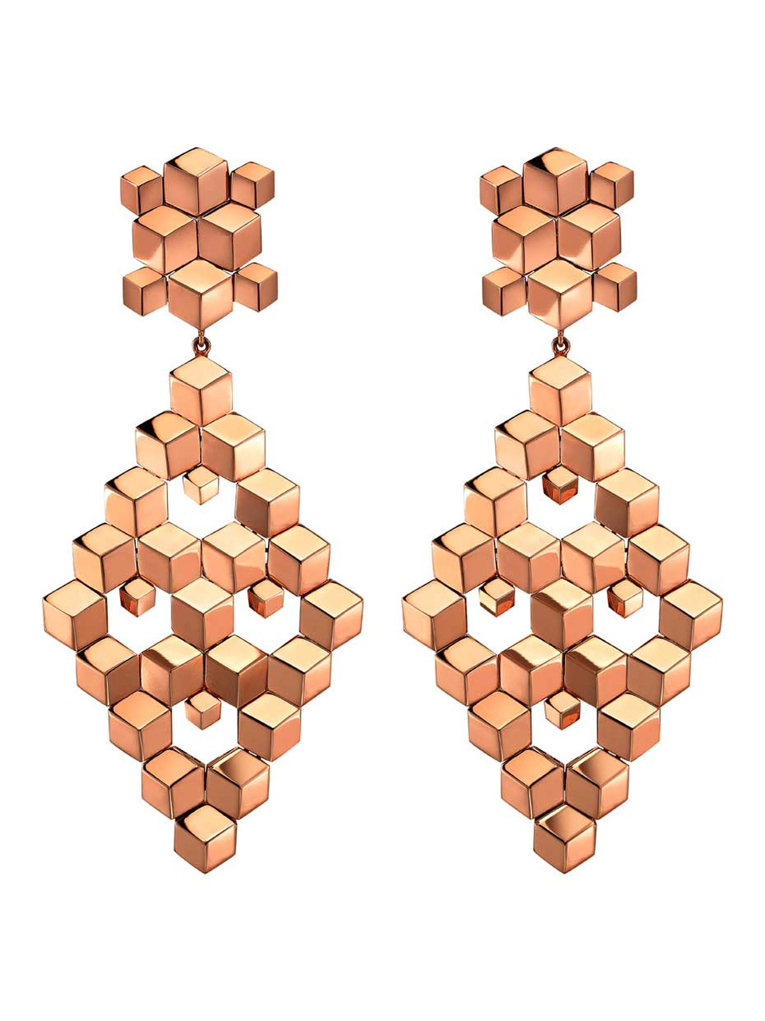 Paolo Costagli rose gold earrings from the Brillante collection.