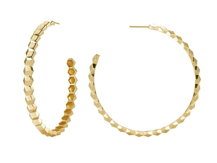 Paolo Costagli hoop earrings in yellow gold from the Brillante collection.