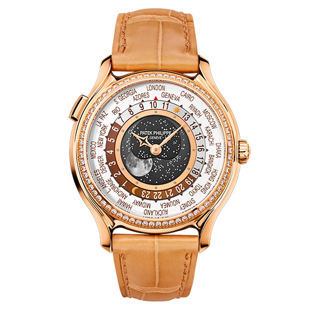 The ladies' model, which is presented exclusively in rose gold and limited to 450 watches, features 70 brilliant-cut diamonds on the bezel and is engraved with Patek Philippe 1839-2014 on the gold caseback.